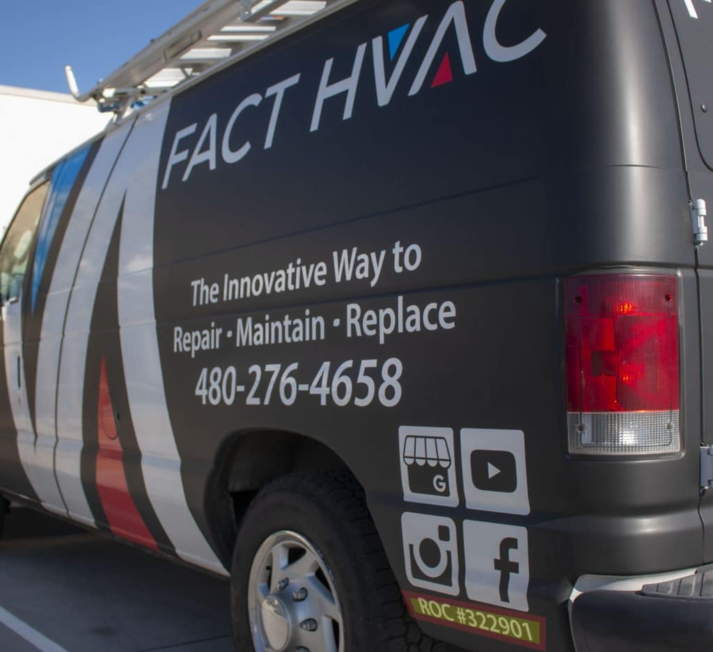FACT HVAC truck with ROC number